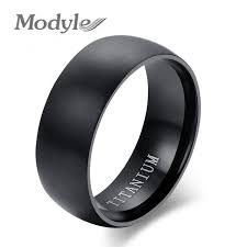 titanium wedding ring modyle new fashion men titanium ring high quality black titanium