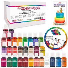 amazon com 30 food color primary secondary u0026 neon us cake