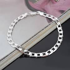 solid silver bracelet charms images New men sterling silver bracelet 925 pure silver chain genuine jpg