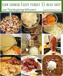 leftover turkey cajun 15 bean soup cooker recipe basilmomma