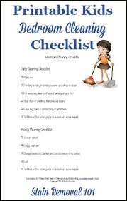 clean bedroom checklist bedroom cleaning checklist help kids know expectations for this chore