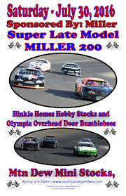 Miller Overhead Door Late Models Miller 200 Mini Stocks Hobby Stocks And