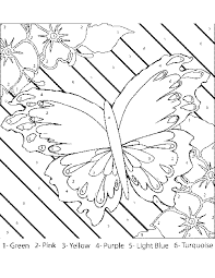 color number coloring pages adults