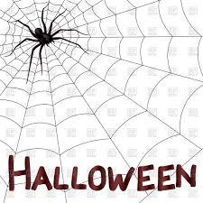 big dark horrifying spider on the web halloween artwork vector