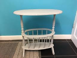 Shabby Chic Side Table Annie Sloan Grey Shabby Chic Side Table With Magazine Rack In