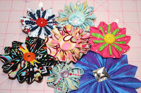 tsumami kanzashi flower hair clip 14 steps with pictures