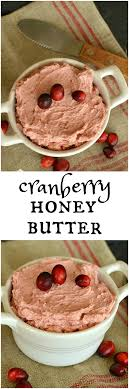 cranberry honey butter dairy on the prairie