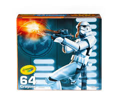 star wars stormtrooper tin and crayon box crayola