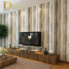 Wholesale Vintage Home Decor by Wholesale Mediterranean Vintage 3d Textured Wood Striped Wallpaper