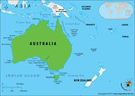 austrial map is australia an island answers
