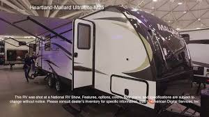 mallard travel trailer floor plans heartland mallard ultralite m25 youtube