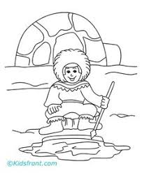 arctic coloring page free download