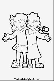 excellent friendship coloring pages with best friend coloring