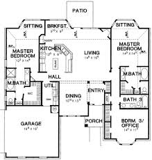 one floor plans with two master suites master bedroom house plan 3056d architectural designs