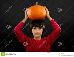Boys Pumpkin Halloween Costume Portrait Boy Wearing Halloween Costume Pumpkin