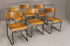 vintage retro metal stacking chairs nest a bye chairs
