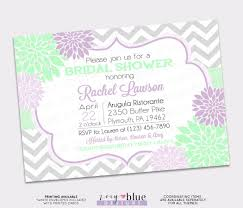 purple and grey baby shower invitations lilac mint floral bridal shower grey chevron purple lavender