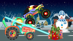 monster truck cartoon videos scary tractors for kids haunted house monster truck for chilren