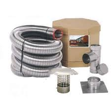 Smooth Wall Chim Cap Corp 4 In X 25 Ft Smooth Wall Stainless Steel Chimney