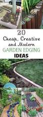 20 cheap creative and modern garden edging ideas