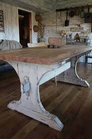 Plans For Making A Round Picnic Table by Best 25 Rustic Farmhouse Table Ideas On Pinterest Farm Kitchen