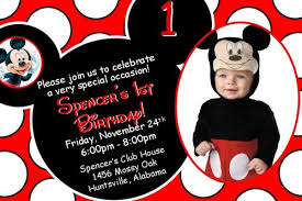 mickey mouse birthday invitations with photo digital file only