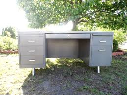 Vintage Metal Office Desk Vintage Tanker Desk Mid Century Office Office Furniture Vintage