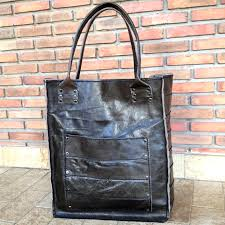 Handmade Leather Tote Bag - thai handmade leather tote bag