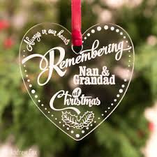 personalised engraved remembrance baubles memorial