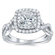 square engagement rings with halo square twisted shank halo engagement ring