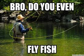 Fly Fishing Meme - bro do you even fly fish
