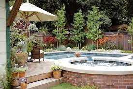 Backyards With Pools The Best Plants For Swimming Pool Landscaping