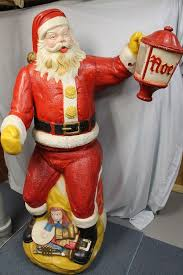 Santa Claus Blow Mold Christmas Decoration by Vintage 1960 U0027s Working Lifesize Poloron Animated Santa Claus Blow