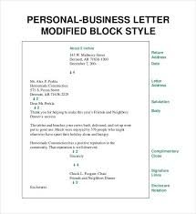 business letter format block style business letter template personal business letter