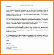 8 letters of recommendation for internship u2013 free sample