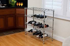 wine rack free standing floor stand small metal bottle shelf