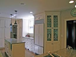 White Kitchen Cabinets With Glass Doors Interesting White Wooden Kitchen Cabinets With Glass Door With