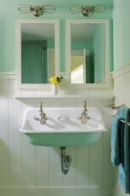 cast iron trough sink things we love cast iron sinks in the bathroom turquoise painting