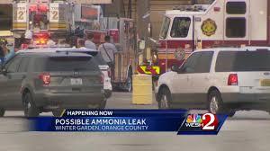 Winter Garden Orange County Crews Control Possible Ammonia Leak In Orange County