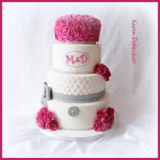 fushia grey and white wedding cake cakes u0026 cake decorating