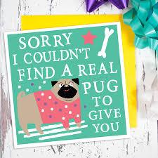 pug card by zoe brennan notonthehighstreet com