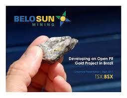 Seeking Lizard Review Belo Sun Mining Vnnhf Presents At 2017 Precious Metals Summit