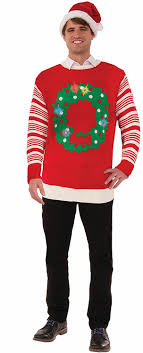 light up ugly christmas sweater dress amazon com forum novelties light up ugly christmas sweater clothing