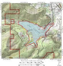 Lake Pleasant Map Lake Siskiyou Trail Hike Mt Shasta