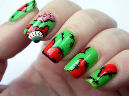 cute halloween nails plus10kapow happy halloween terrifyingly cute zombies