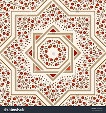 Morrocan Design Patterned Floor Tile Moroccan Pattern Design Stock Vector