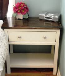 nightstand beautiful white painted wooden nightstand side