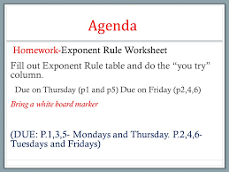 exponents part 2 week 14 do now 3 mins pkb prior knowledge