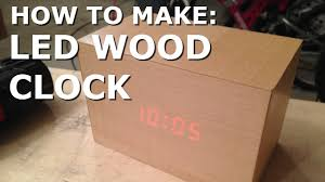 make led wooden clock youtube