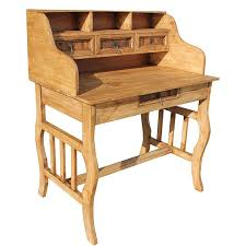 rustic pine writing desk rustic furniture lira mexican rustic pine desk with hutch